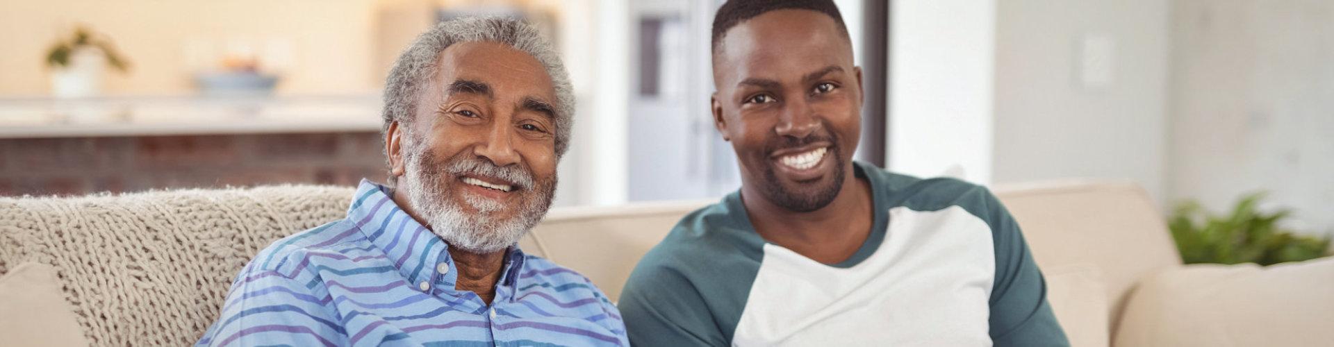senior man with his son